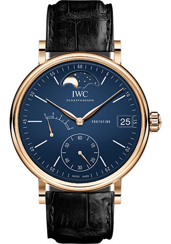 IWC Watches - Portofino Hand-Wound Moon Phase - Red Gold - Style No: IW516407