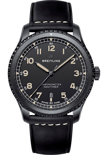 Breitling Watches - Aviator 8 Automatic 41 Stainless Steel - Leather Strap - Style No: M17314101B1X1