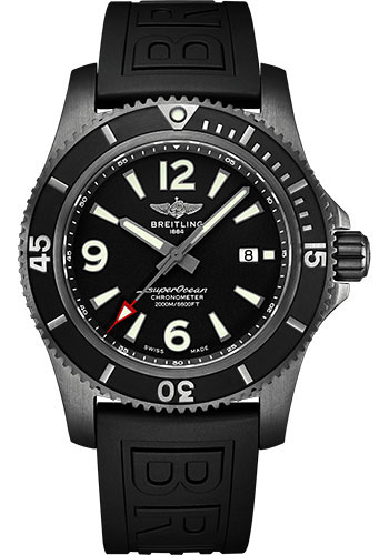Breitling Watches - Superocean Automatic 46mm - Black Steel - Style No: M17368B71B1S1