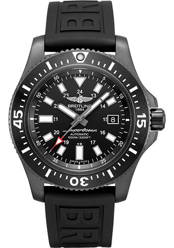 Breitling Watches - Superocean 44 Special Black Steel - Diver Pro III Strap - Style No: M17393131B1S1