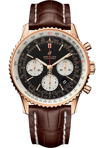 Breitling Watches - Navitimer 1 B01 Chronograph 43mm - Red Gold - Style No: RB0121211B1P1