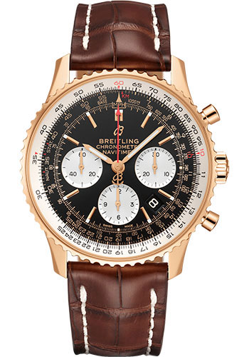 Breitling Watches - Navitimer B01 Chronograph 43mm - Red Gold - Style No: RB0121211B1P2