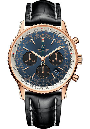 Breitling Watches - Navitimer 1 B01 Chronograph 43mm - Red Gold - Style No: RB0121211C1P1