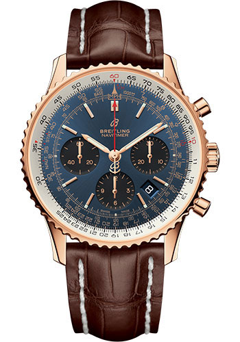 Breitling Watches - Navitimer 1 B01 Chronograph 43mm - Red Gold - Style No: RB0121211C1P2