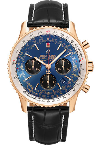 Breitling Watches - Navitimer B01 Chronograph 43mm - Red Gold - Style No: RB0121211C1P3