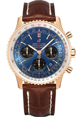Breitling Watches - Navitimer B01 Chronograph 43mm - Red Gold - Style No: RB0121211C1P4