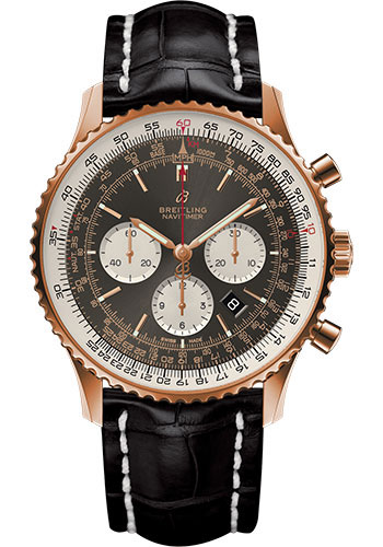 Breitling Watches - Navitimer 1 B01 Chronograph 46mm - Red Gold - Style No: RB0127121F1P1