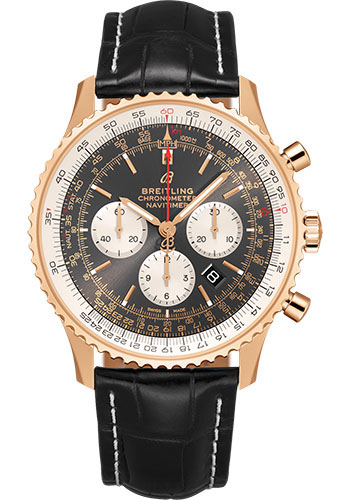 Breitling Watches - Navitimer B01 Chronograph 46mm - Red Gold - Style No: RB0127121F1P2