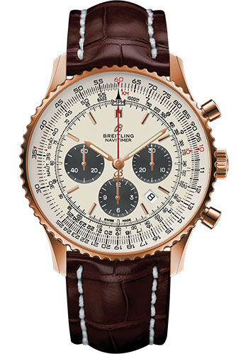 Breitling Watches - Navitimer 1 B01 Chronograph 46mm - Red Gold - Style No: RB0127121G1P1