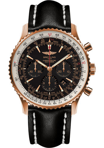 Breitling Watches - Navitimer 01 46mm - Red Gold - Leather Strap - Tang - Style No: RB0127E6/BF16/441X/R20BA.1