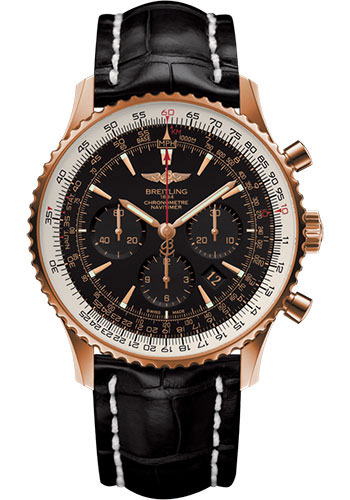 Breitling Watches - Navitimer 01 46mm - Red Gold - Croco Strap - Tang - Style No: RB0127E6/BF16/760P/R20BA.1