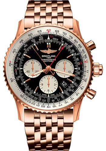 Breitling Watches - Navitimer B03 Chronograph Rattrapante 45 Red Gold - Navitimer Bracelet - Style No: RB031121/BG11/443R