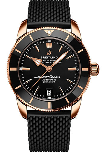 Breitling Watches - Superocean Heritage B20 Automatic 42mm - 18K Red Gold - Rubber Strap - Style No: RB2010121B1S1