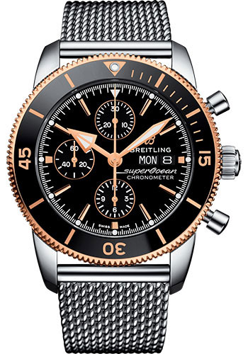 Breitling Watches - Superocean Heritage II Chronograph 44mm - Steel and Rose Gold - Style No: U13313121B1A1
