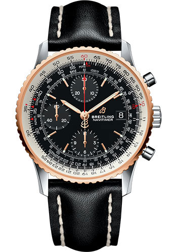 Breitling Watches - Navitimer Chronograph 41 Steel and Red Gold - Metal Bracelet - Style No: U13324211B1X1