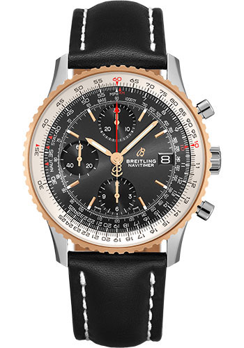 Breitling Watches - Navitimer Chronograph 41 Stainless Steel - Leather Strap - Deployant - Style No: U13324211B1X2
