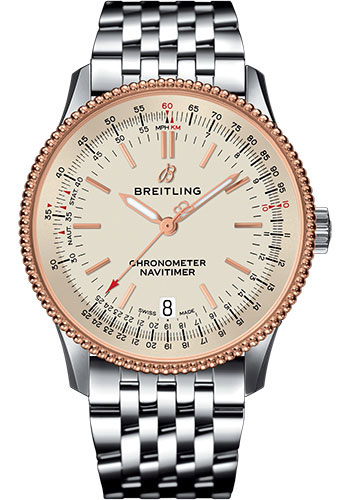Breitling Watches - Navitimer 1 Automatic 38mm - Steel and Red Gold - Style No: U17325211G1A1
