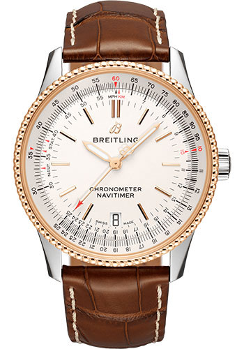 Breitling Watches - Navitimer Automatic 38mm - Steel and Red Gold - Style No: U17325211G1P2