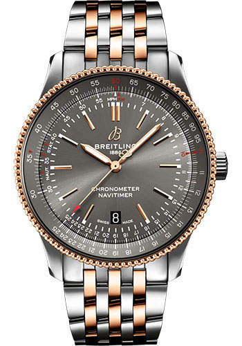 Breitling Watches - Navitimer Automatic 41mm - Steel and Red Gold - Metal Bracelet - Style No: U17326121M1U1