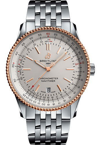 Breitling Watches - Navitimer Automatic 41mm - Steel and Red Gold - Navitimer Bracelet - Style No: U17326211G1A1