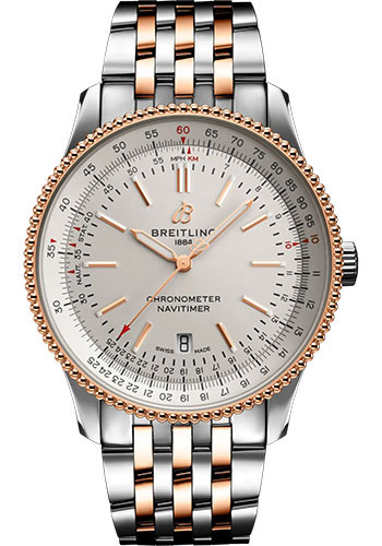 Breitling Watches - Navitimer Automatic 41mm - Steel and Red Gold - Metal Bracelet - Style No: U17326211G1U1