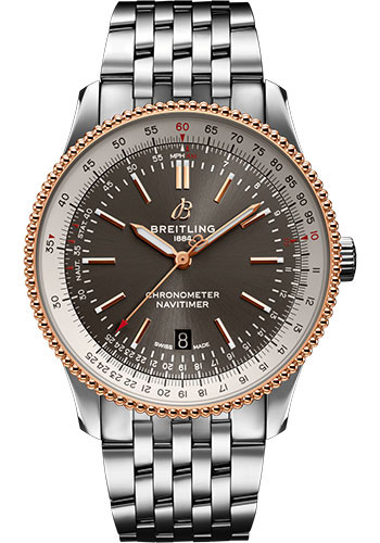 Breitling Watches - Navitimer Automatic 41mm - Steel and Red Gold - Navitimer Bracelet - Style No: U17326211M1A1