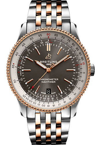 Breitling Watches - Navitimer Automatic 41mm - Steel and Red Gold - Metal Bracelet - Style No: U17326211M1U1