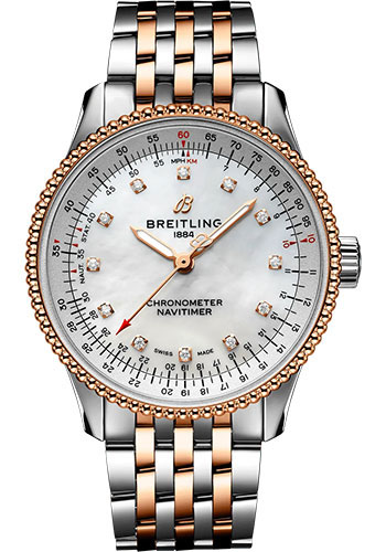 Breitling Watches - Navitimer Automatic 35mm - Steel and Rose Gold - Navitimer Bracelet - Style No: U17395211A1U1