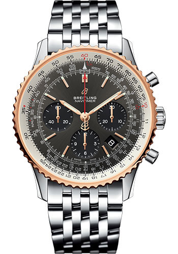 Breitling Watches - Navitimer B01 Chronograph 43mm - Steel and Red Gold - Style No: UB0121211F1A1