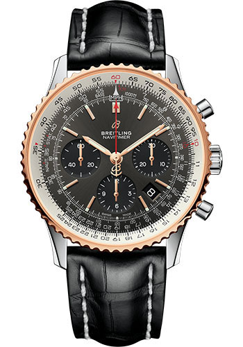 Breitling Watches - Navitimer 1 B01 Chronograph 43mm - Steel and Red Gold - Style No: UB0121211F1P1