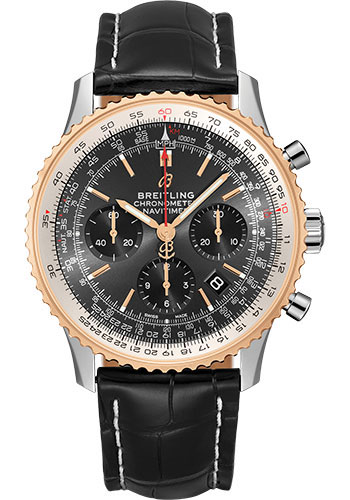 Breitling Watches - Navitimer B01 Chronograph 43mm - Steel and Red Gold - Style No: UB0121211F1P2