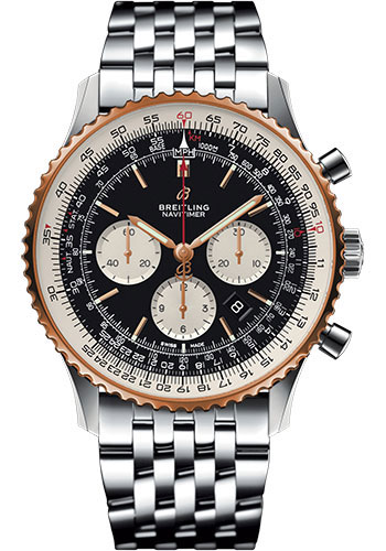 Breitling Watches - Navitimer B01 Chronograph 46mm - Steel and Red Gold - Style No: UB0127211B1A1