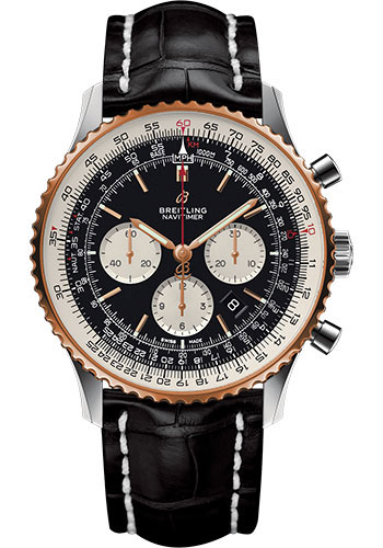 Breitling Watches - Navitimer B01 Chronograph 46mm - Steel and Red Gold - Style No: UB0127211B1P1