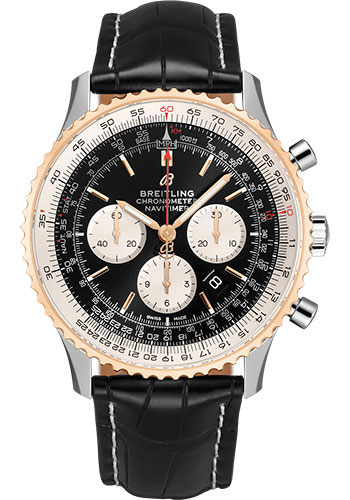 Breitling Watches - Navitimer B01 Chronograph 46mm - Steel and Red Gold - Style No: UB0127211B1P2