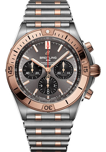 Breitling Watches - Chronomat B01 42 Steel and Red Gold - Metal Bracelet - Style No: UB0134101B1U1