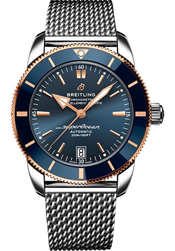 Breitling Watches - Superocean Heritage B20 Automatic 42 Steel and Red Gold - Metal Bracelet - Style No: UB2010161C1A1