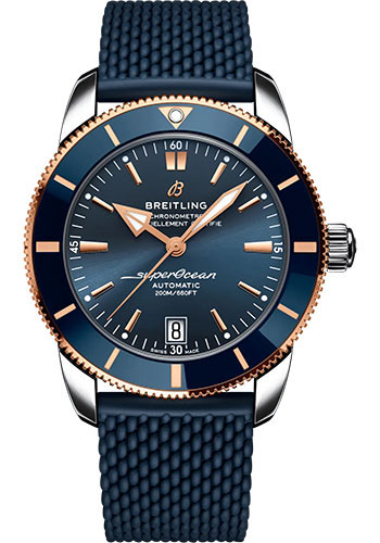 Breitling Watches - Superocean Heritage B20 Automatic 42 Steel and Red Gold - Rubber Strap - Folding Buckle - Style No: UB2010161C1S1