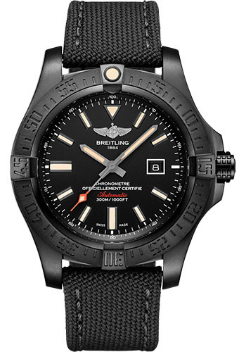 Breitling Watches - Avenger Blackbird 48mm - Military Strap - Style No: V17310101B1W1