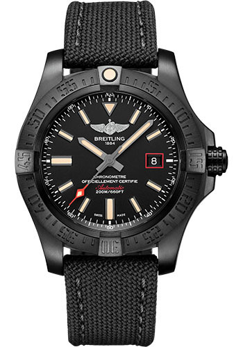 Breitling Watches - Avenger Blackbird 44mm - Military Strap - Style No: V17311101B1W1