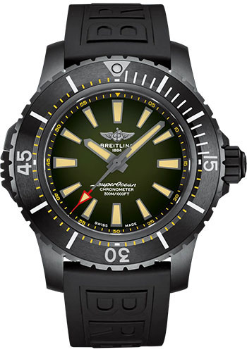 Breitling Watches - Superocean Automatic 48mm - Black Titanium - Rubber Strap - Tang - Style No: V17369241L1S1