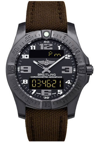 Breitling Watches - Aerospace Evo Military Strap - Tang Buckle - Style No: V7936310/BD60/108W/M20DSA.1