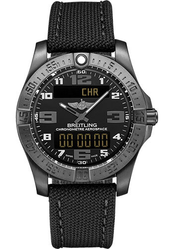 Breitling Watches - Aerospace Evo Military Strap - Tang Buckle - Style No: V79363101B1W1
