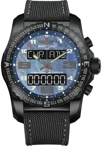 Breitling Watches - Cockpit B50 Black Titanium Case - Military Strap - Style No: VB501019/C932/100W/M20BASA.1