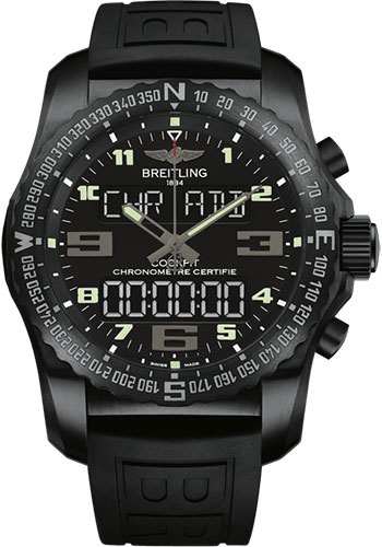 Breitling Watches - Cockpit B50 Black Titanium Case - Diver Pro III Strap - Style No: VB5010221B1S1