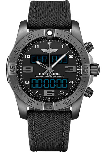 Breitling Watches - Exospace B55 Black Titanium - Military Strap - Style No: VB5510H11B1W1