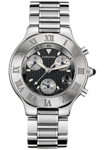Cartier Watches - 21 Chronoscaph - Style No: W10172T2