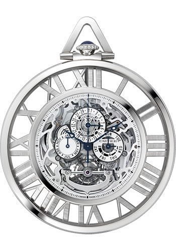 Cartier Watches - Rotonde de Cartier Grande Complication Skeleton Pocket Watch - Style No: W1556213