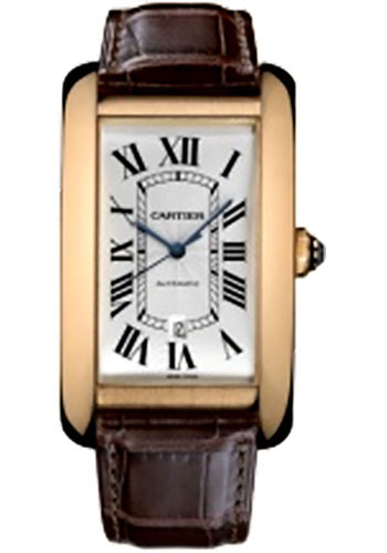 Cartier Watches - Tank Americaine Extra Large - Pink Gold - Style No: W2609856