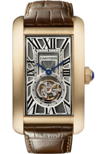 Cartier Watches - Tank Americaine Extra Large - Pink Gold - Style No: W2620008