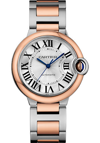 Cartier Watches - Ballon Bleu 36mm - Steel and Pink Gold - Style No: W2BB0003